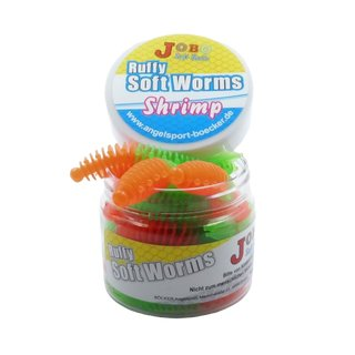 Ruffy Shrimps Trout Worms Two Colors 58 mm